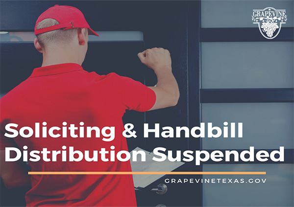 Soliciting  Handbill Dist Suspended-600-423