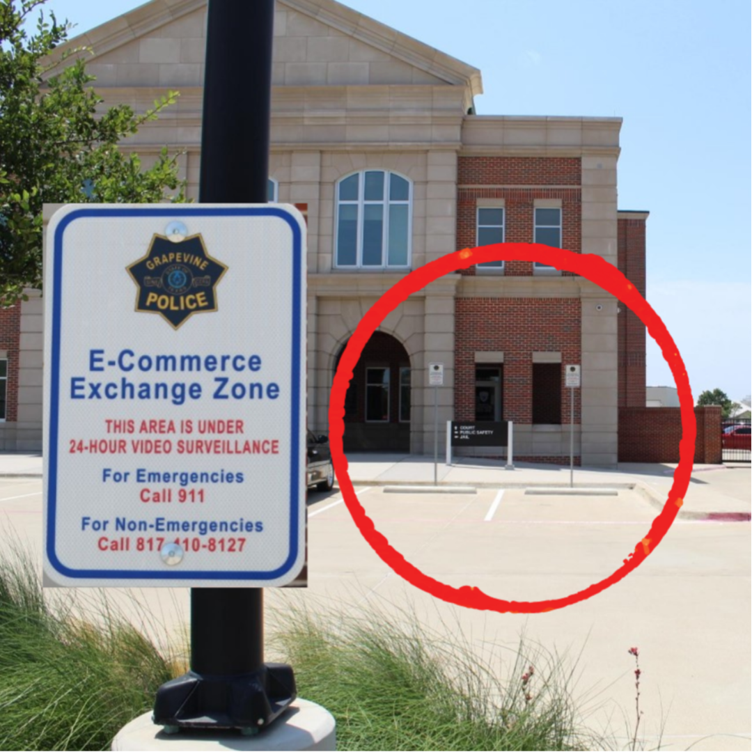 E-Commerce Exchange Zone sign