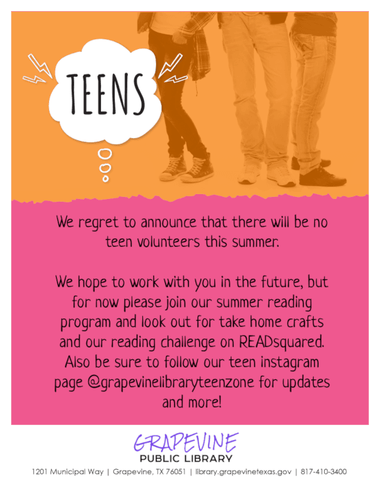 Teen Volunteers 2020